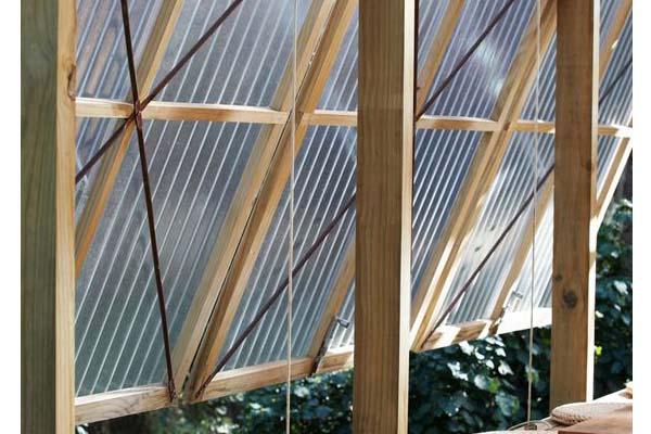 Pannelli policarbonato trasparente in policarbonato - Telaio finestra legno ...